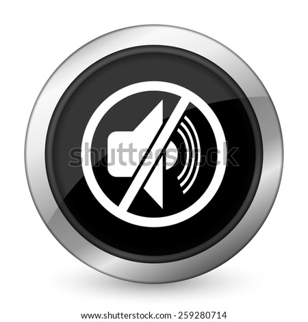 mute black icon silence sign  - stock photo