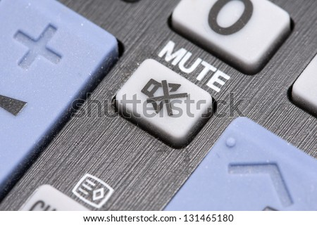 mute button close-up - stock photo
