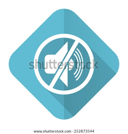 mute flat icon silence sign  - stock photo