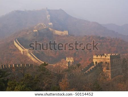 Mutianyu great wall of china - stock photo