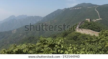 Mutianyu section of Great Wall Of China, Huairou District, Beijing, China - stock photo