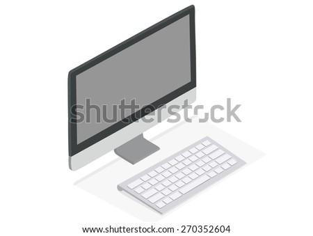 My Computer Desktop computer illustration - stock photo