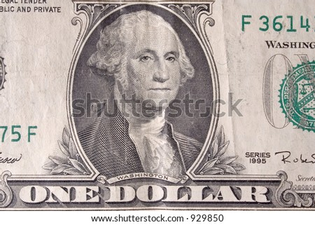 my first dollar , need more!  ;-D - stock photo