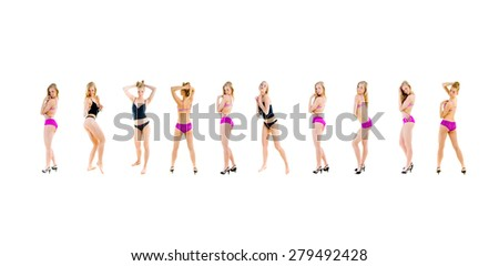 My LINGERIE Concept Big Group  - stock photo