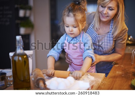 My little baker in the kitchen