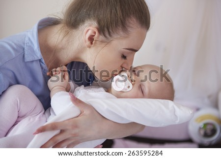 My little princes has small nap  - stock photo