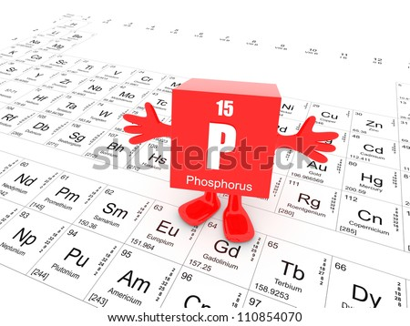 My name is Phosphorus and this is the Periodic Table - stock photo