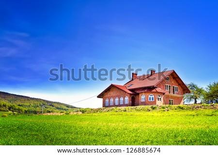 My new house - stock photo