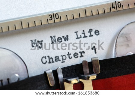 My new life chapter one concept for fresh start, new year resolution, dieting and healthy lifestyle - stock photo