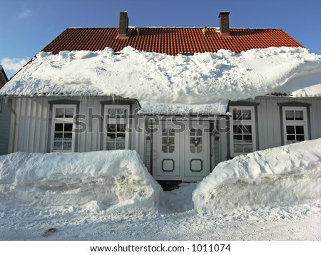 My Snowy Home - stock photo