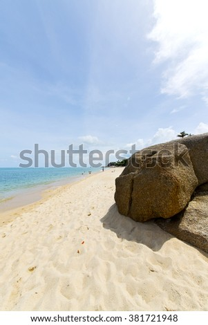 myanmar asia  kho samui bay isle froth foam   in thailand and south china sea  - stock photo