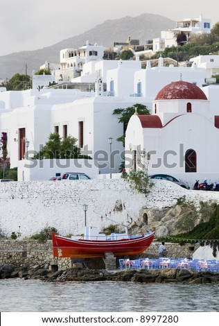 mykonos harbour greece