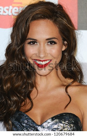 Myleene Klass arriving for the Classic Brit Awards 2012 at the Royal Albert Hall, London. 02/10/2012 Picture by: Steve Vas - stock photo