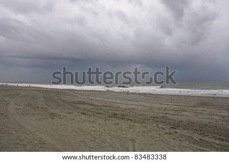 MYRTLE BEACH - AUGUST 26: Hurricane Irene takes aim at the eastern seaboard. August 26, 2011, Myrtle Beach, South Carolina. - stock photo