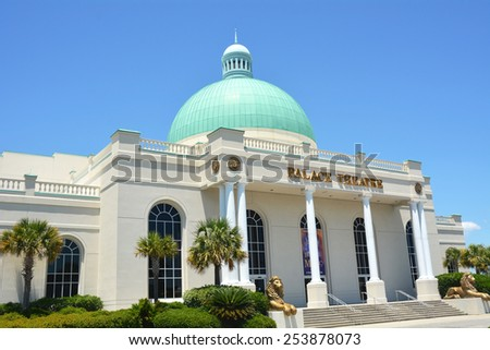 MYRTLE BEACH, SC - FEBRUARY 19, 2015 :The Palace Theatre in Myrtle Beach South Carolina is a popular year-round host to live entertainment, Broadway productions and musicals from around the world.