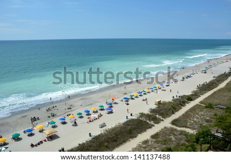 Myrtle Beach South Carolina, aerial view - stock photo