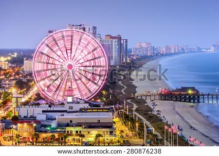 Myrtle Beach, South Carolina, USA city skyline. - stock photo