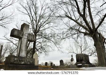 Myrtle Hill Cemetery, Rome, GA - stock photo