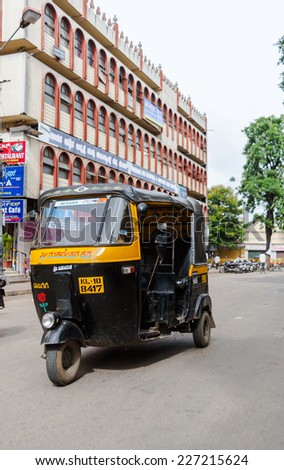 MYSORE, INDIA JULY 24th A rickshaw in the streets of Mysore on July 24th 2010.