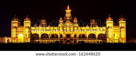 Mysore Palace, Mysore, Karnataka state, India - stock photo