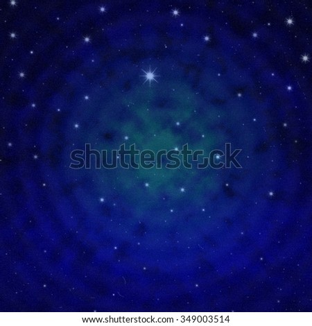 mysterious blue starry space background