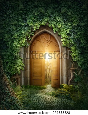 Mysterious entrance to new life or beginning - stock photo