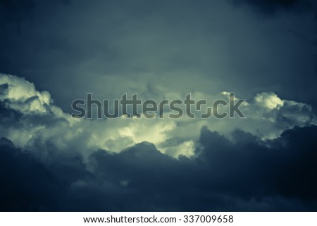 mysterious nightly cloudscape - stock photo