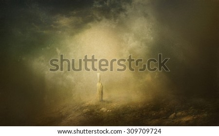 Mysterious place - stock photo