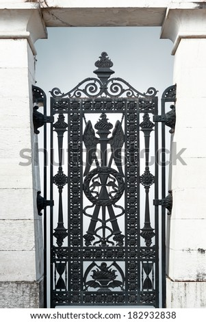 Mysterious portal. Conceptual image about after-life. - stock photo