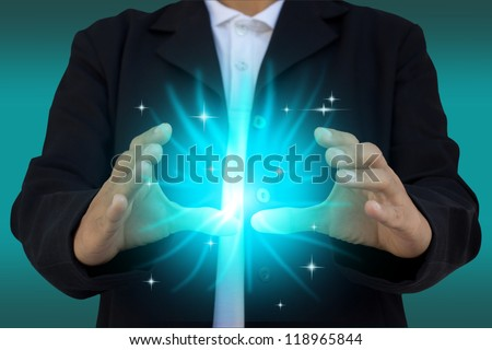 Mysterious power - stock photo