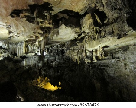 Mysterious rock formations in Crystal Cave, Sequoia National Park, California