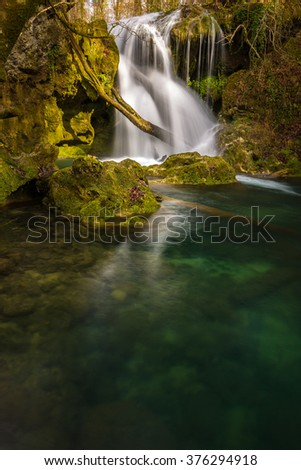 Mysterious waterfalls in Transylvania, in spring