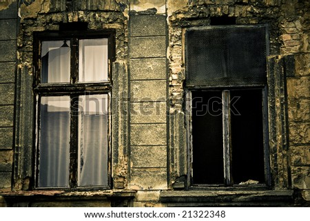 Mysterious windows - stock photo