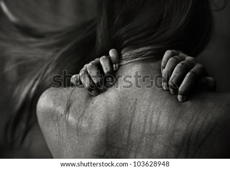 Mysterious woman - stock photo