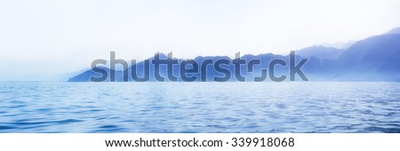 Mystery evening capture of Indian ocean shore, Oman - stock photo
