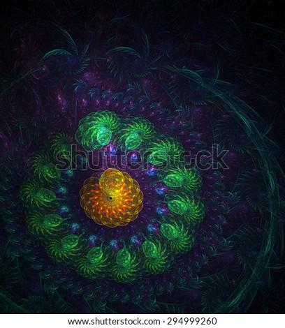 Mystic Garden abstract illustration - stock photo