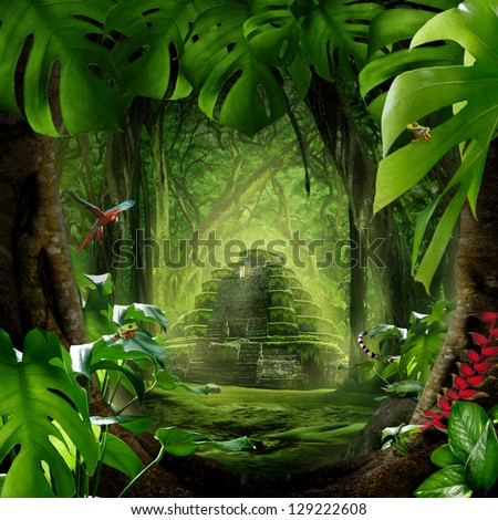 mystic jungle - stock photo