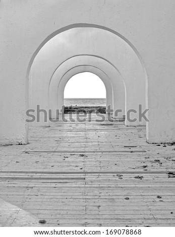 Mystical corridor - stock photo