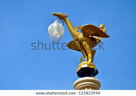 Mythical female bird with a human head in thailand - stock photo