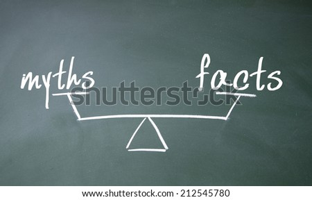 myths and facts balance sign - stock photo