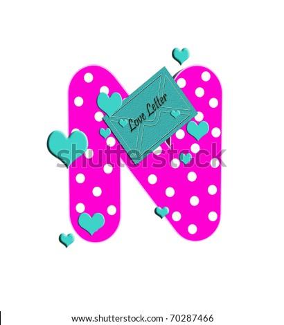 n alphabet in love  in the alphabet set