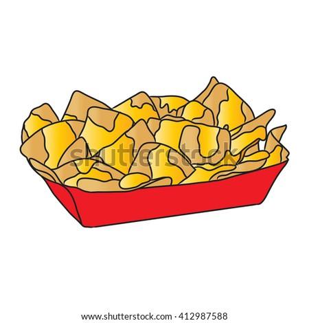 Stock Photo Nacho Cheese Takeaway Food on Different Types Of Nachos