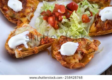 Potato Skins Stock Photos, Illustrations, and Vector Art