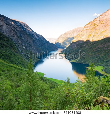 Naeroyfjord - stock photo