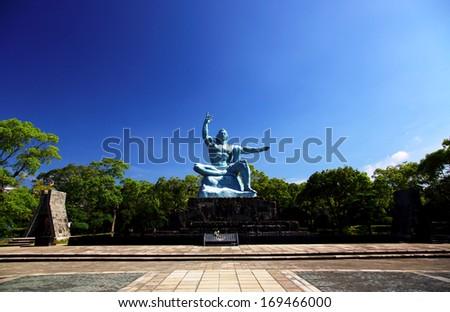 Nagasaki Peace Park - stock photo