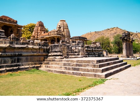 Nagda temple in the neighborhood of Udaipur, Rajasthan, India