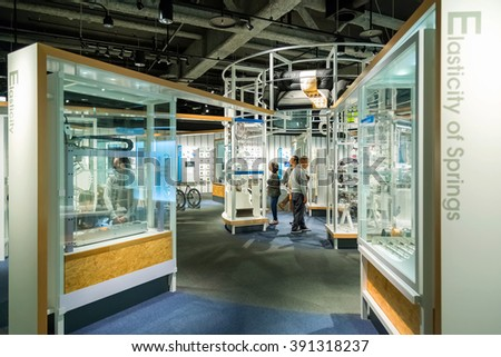 NAGOYA, JAPAN - NOVEMBER 18, 2015: Nagoya City Science Museum houses the largest planetarium in the world, it portrays life sciences and general science with a variety of hands-on exhibits