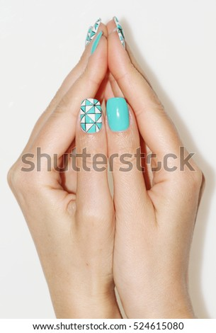 Nail Art Manicure Beauty Hands Trendy Stock Photo Royalty Free