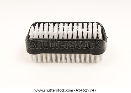 nail cleaning brush isolated