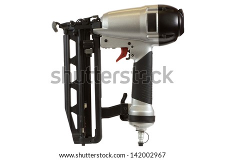 Nail gun isolated on a white background.